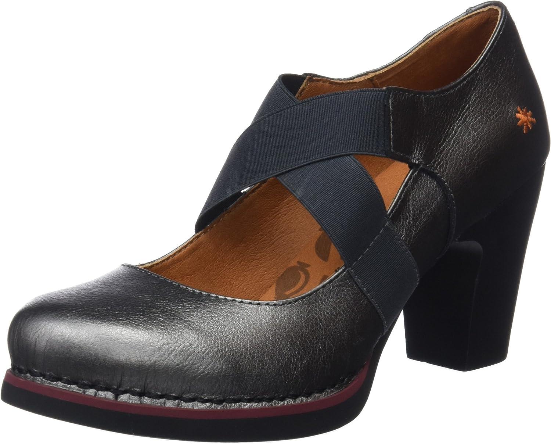 TALLA 39 EU. Art Metalic, Zapatos de tacón con Punta Cerrada para Mujer