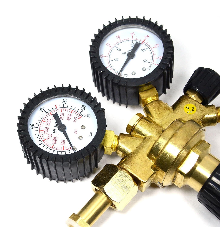 MIG//MAG Druckminderer Argon CO2 Schutzgas MIG MAG WIG Neu Druckregler Gasschlauch Gasflaschendruckminderer Argon//CO/² f/ür Schutzgasschweiger/ät wie z.b WIG//TIG