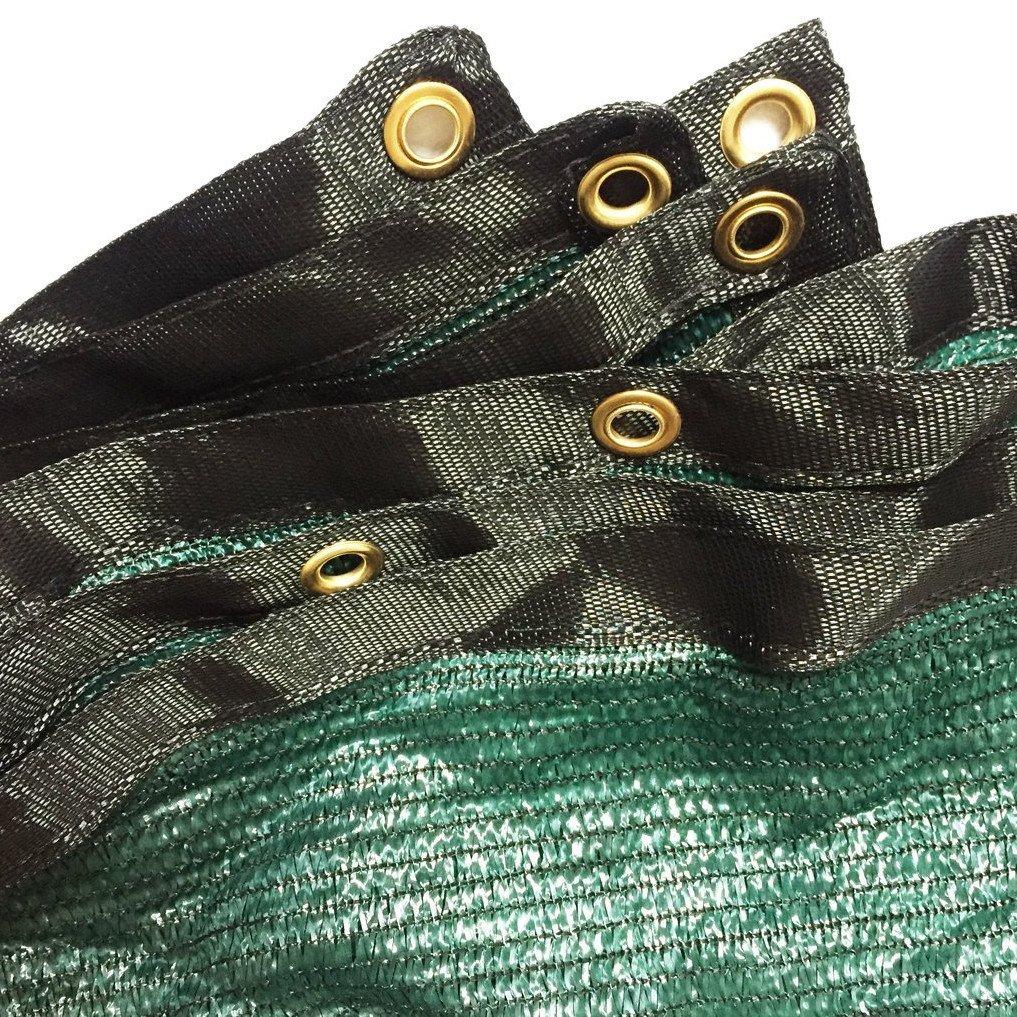 Harvest 70% Green Sunblock Shade Cloth UV Resistant, Premium Heavy Duty Mesh Tarp, Shade Net Panel for Plant Cover Greenhouse,Plants,Barn,Kennel, Pool, Pergola or Carport (12ft X 16ft) by Harvest (Image #2)