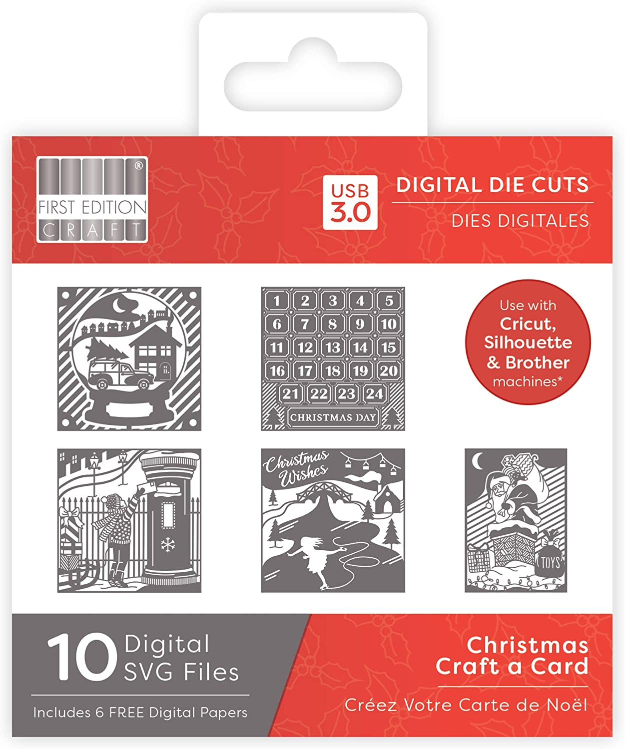 Digital Dies First Edition Christmas 2019 Buildable Multicolour one size