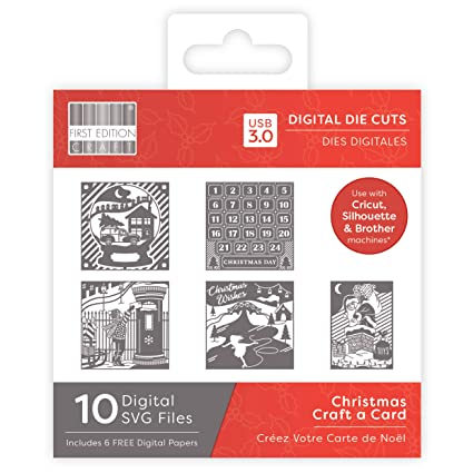 Digital Christmas Cards.First Edition Digital Christmas Dies Craft A Card Amazon Co