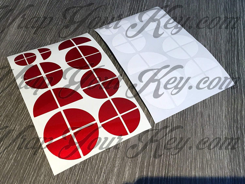 Blanco y Drag/ón Rojo Candente Brillo Emblema Insignia 3M 1080 Vinilo Revestido Pegatina Envolvente para BMW Cap/ó Maletero Llantas Wheels para Todos BMW Serie
