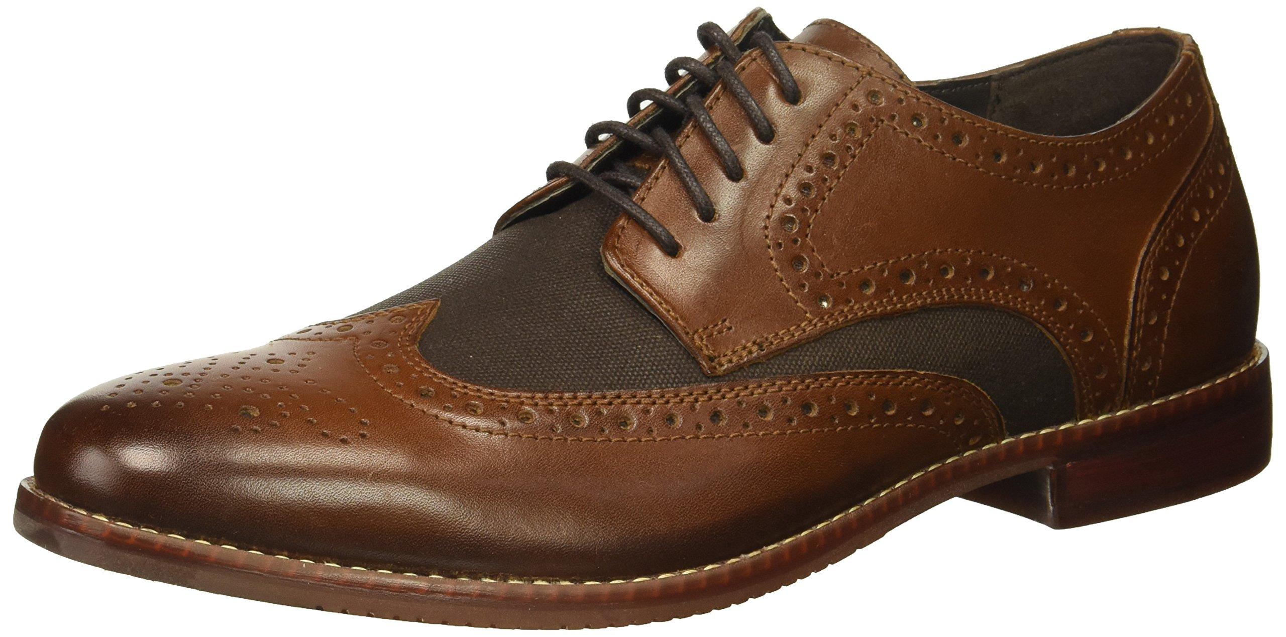 Rockport Men's Style Purpose Wingtip Shoe, dark brown leather, 8 M US