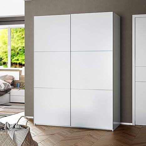 Habitdesign ARC150BO - Armario Dos Puertas correderas, Armario Dormitorio Acabado en Color Blanco Brillo, Medidas: 150 (Largo) x 200 (Alto) x 63 cm (Fondo): Amazon.es: Hogar
