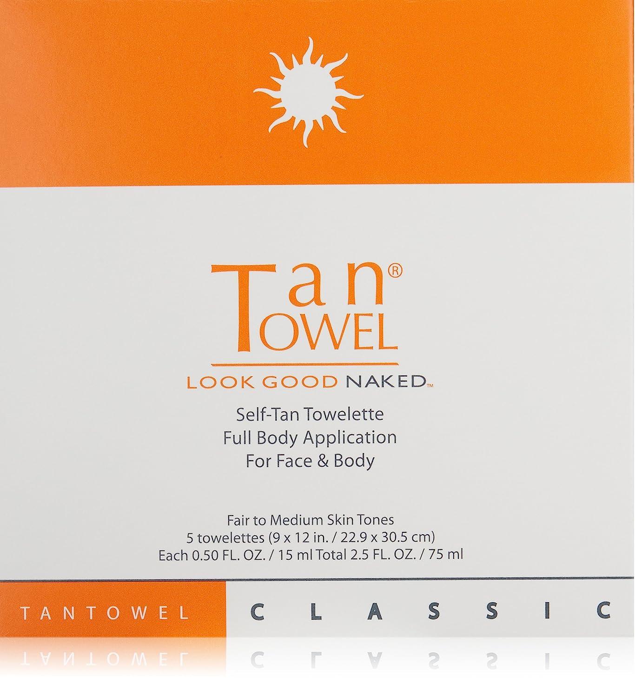 Tan Towel Self Tan Towelette Classic, 5 Count