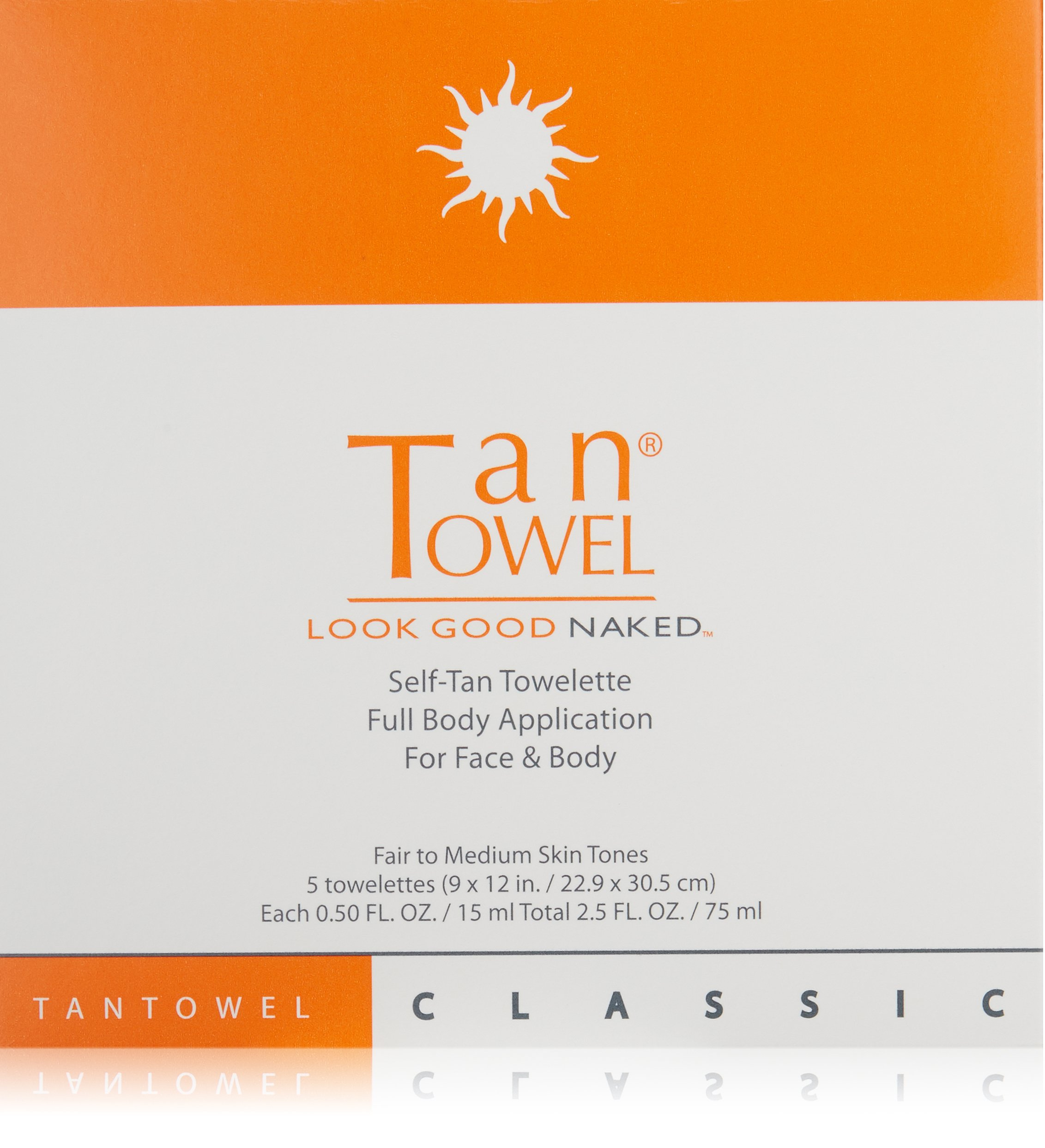 Tan Towel Self Tan Towelette Classic 5 Count
