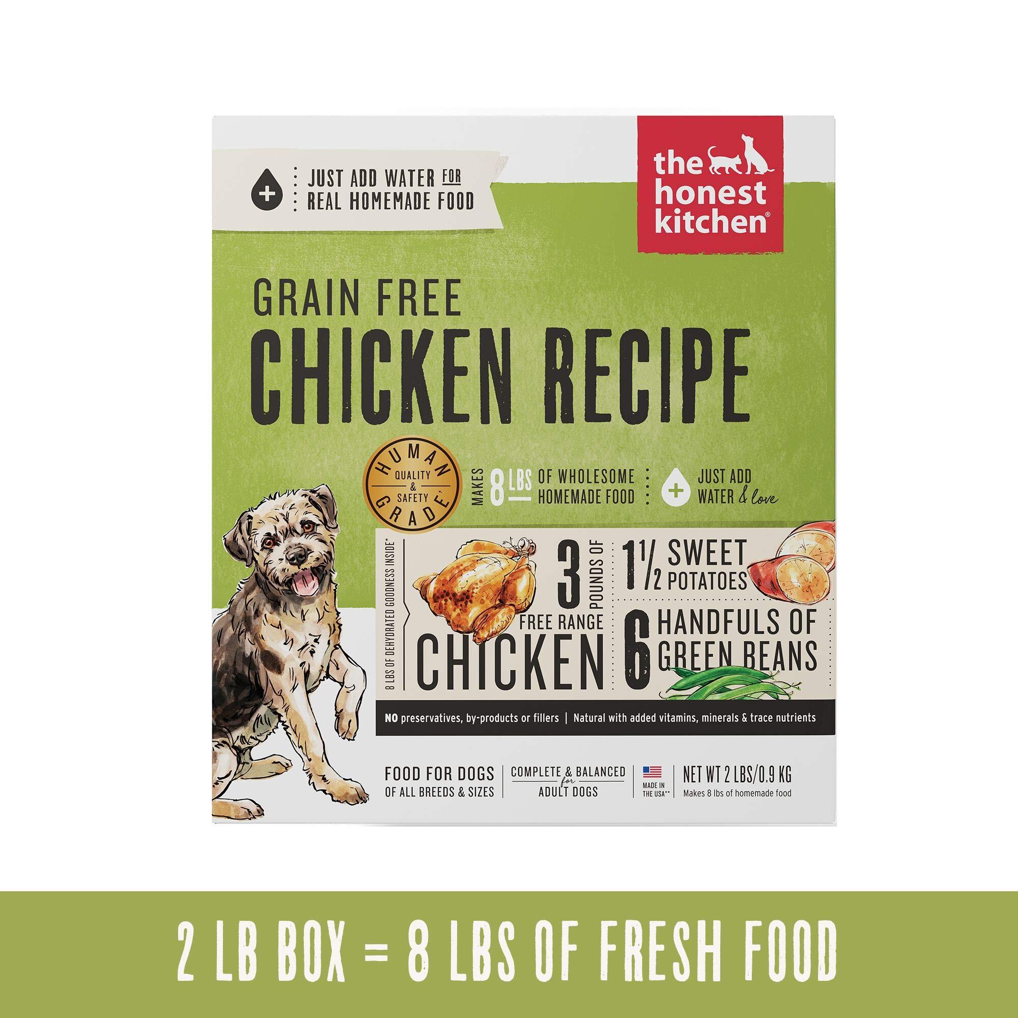 Honest Kitchen Human Grade Dehydrated Grain Free Chicken Dog Food 2 lb - Force by Honest Kitchen