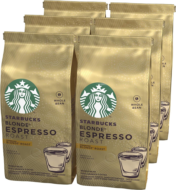 STARBUCKS BLONDE Café de grano entero de tostado suave, 6 x bolsa de 200g: Amazon.es: Alimentación y bebidas