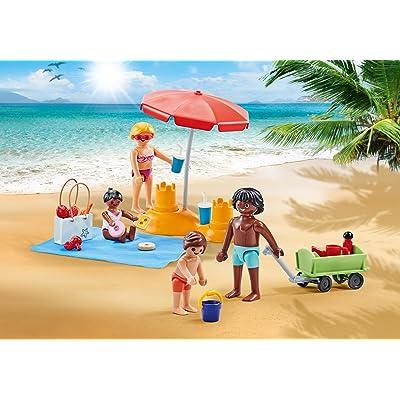 Playmobil 9819 - Famille à la Plage avec Accessoires - Emballage Plastique, pas de boîte: Juguetes y juegos