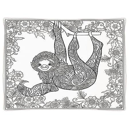 Super Soft Throw Blanket Custom Design Cozy Fleece Blanketsloth
