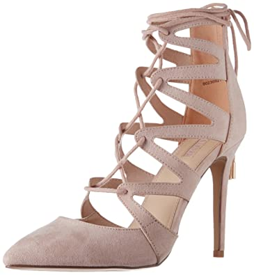 4f8dcbf9ab8d ... Beige Billini – Dephi in nude suede AG51965 Three straps Stiletto look  upper Man Made Exposed zip by SHOES. Forever 21 Women s Nude Pumps – 6  UK India ...