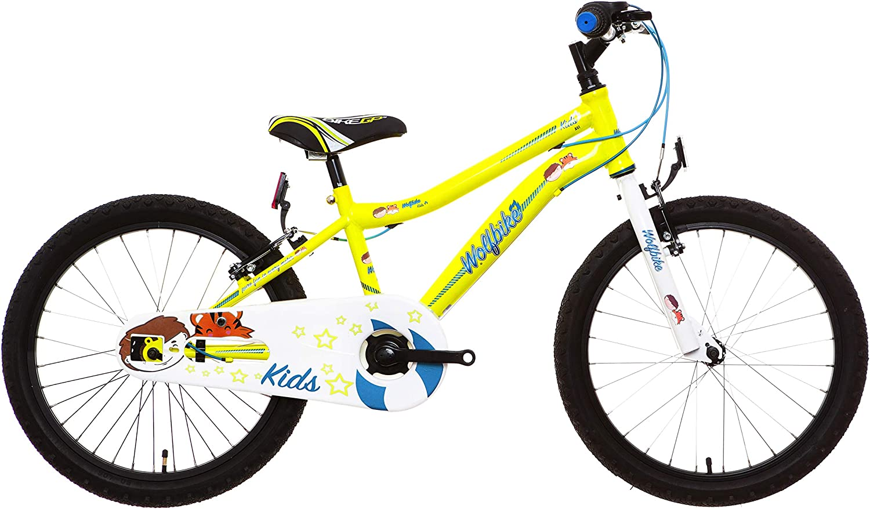 Wolfbike AVI-20 Bicicleta Infantil, Niños, Amarillo flúor, 10 ...