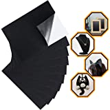 Black Felt Fabric Adhesive Sheets (10 Count) Multipurpose Velvet Sheet with Sticky Glue Back for Art & Crafts, Jewelry Box Liner, Furniture Protector Pads Water Resistant (A4 Size) (Black)