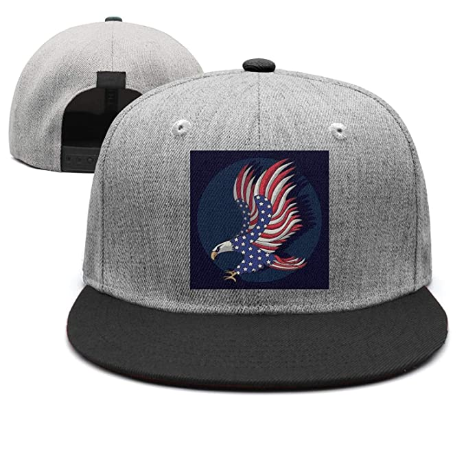 5e0adb448 Amazon.com: Eagles Flag American Unisex Casual Hip hop Flat Cap ...