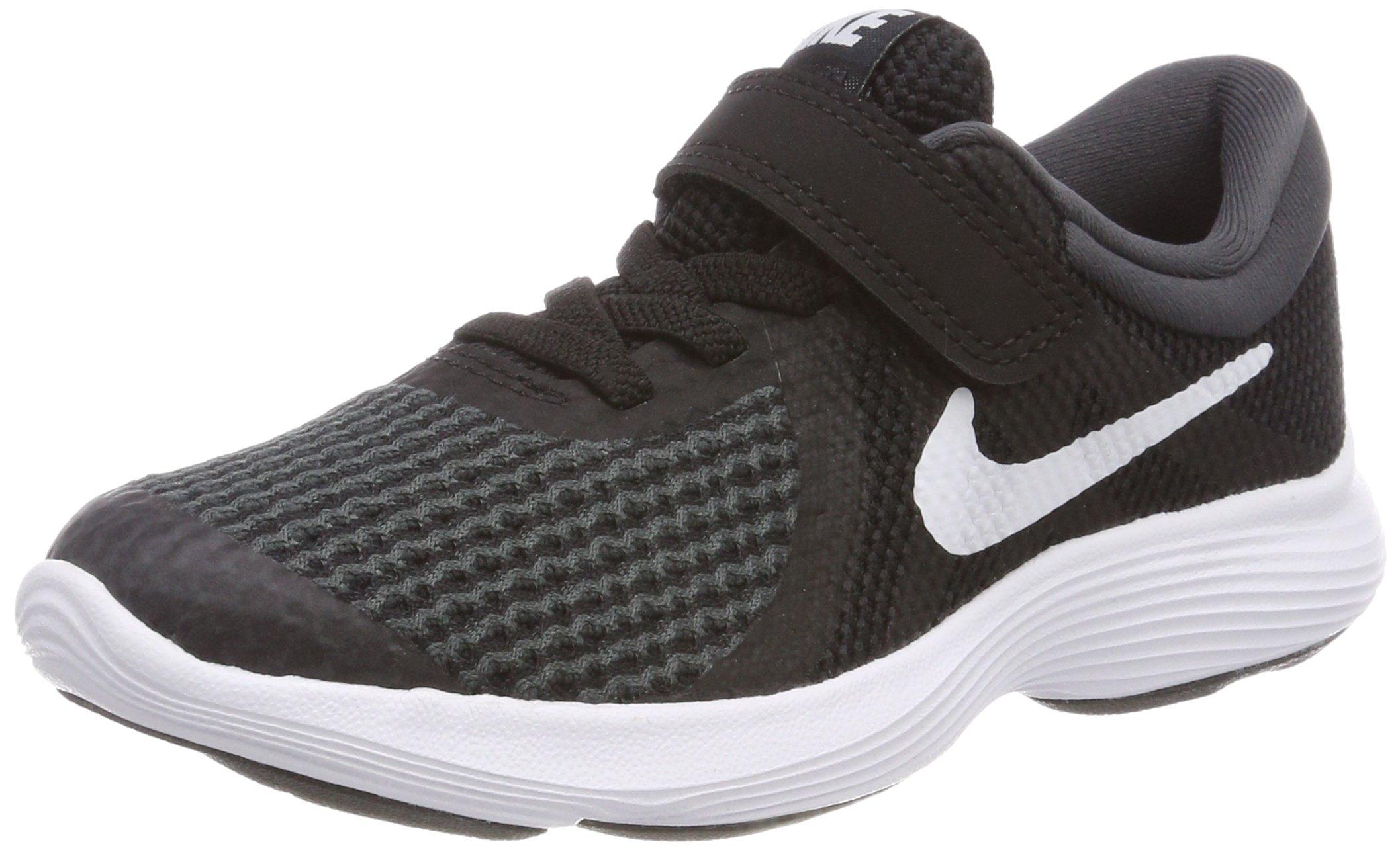 Nike Boys' Revolution 4 (PSV) Running Shoe, Black/White-Anthracite, 11C Youth US Little Kid by Nike