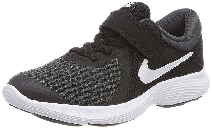 Nike Rovolution 4 Jungen Kinderschuhe schwarz mit weißem Streifen