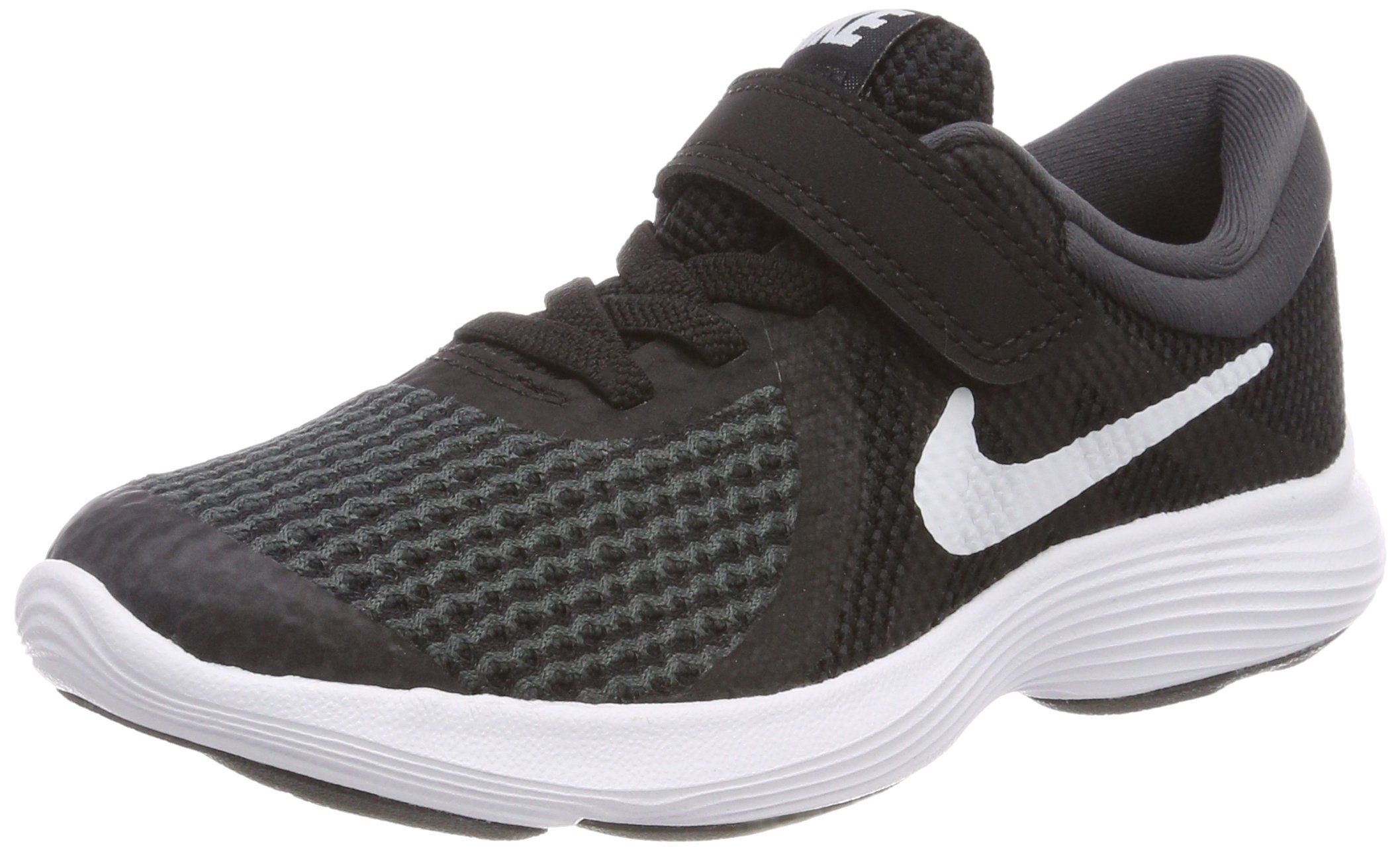 NIKE Boys' Revolution 4 (PSV) Running Shoe, Black/White-Anthracite, 13.5C Youth US Little Kid