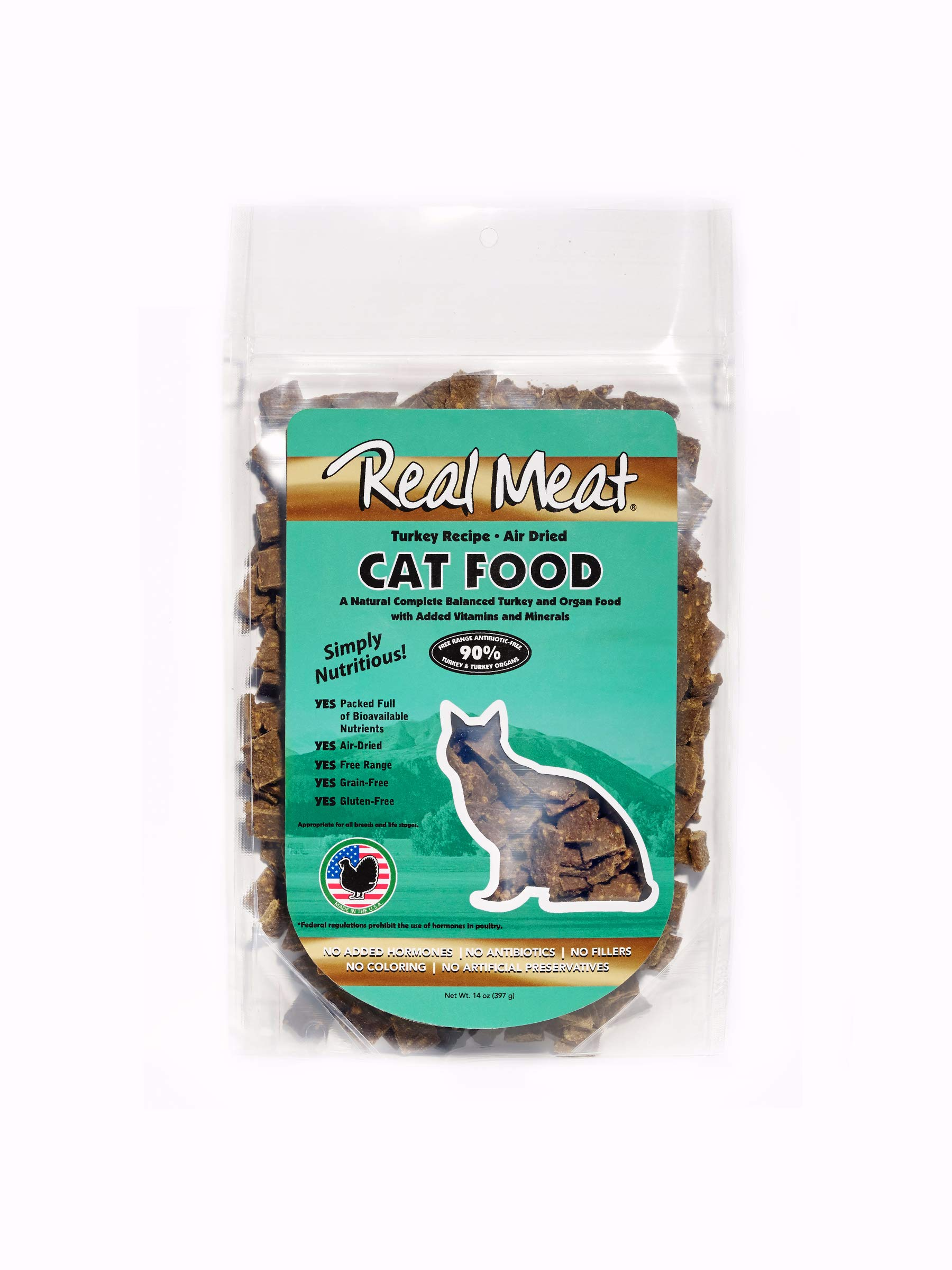 Real Meat 14oz Air-Dried Cat Food, Turkey by Real Meat