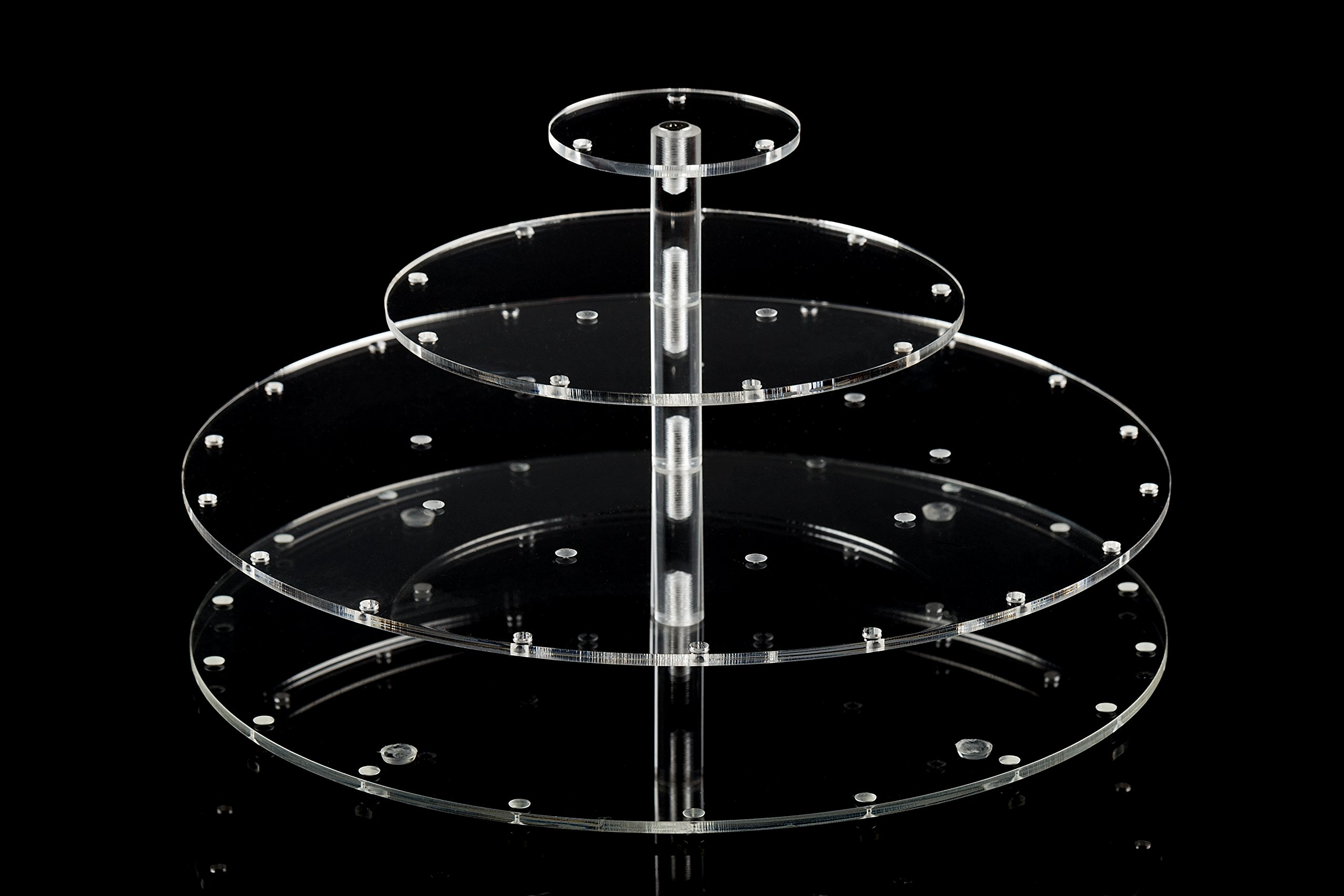 YestBuy Clear Acrylic Cake Pop Stand (Round (30 Holes))