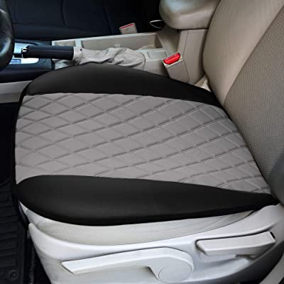 FH Group FB210GRAY102 Faux Leather and NeoSupreme Car Seat Cushion Pad with Front Pocket: Automotive