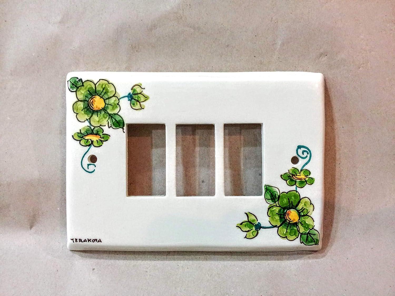 copri interruttore ceramica : decorogreen flowers