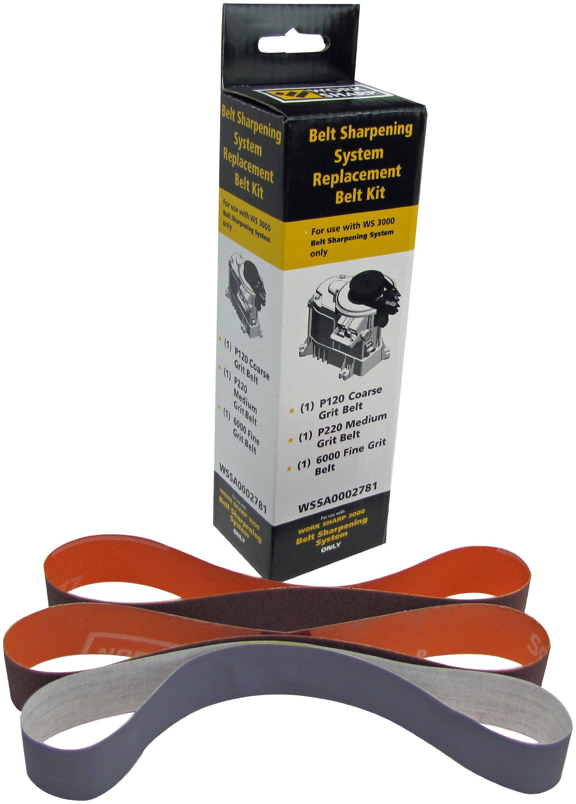 Work Sharp WS3000 Belt Sharpening System Replacement Belt Kit (WS3000 Only)