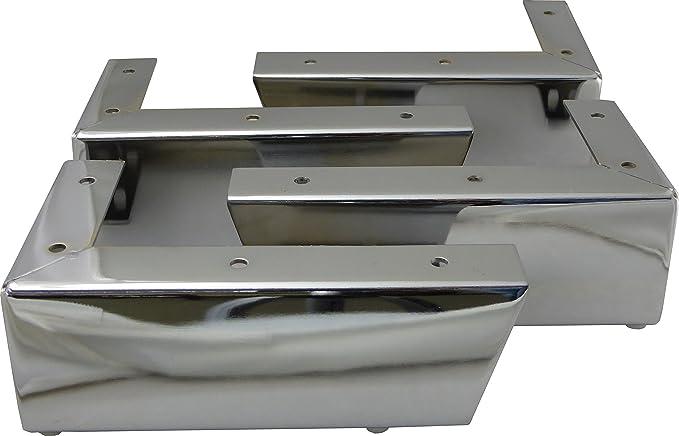4X Patas de Metal muebles regulables armario de cocina pies redondo para sof/ás Total: 80-95mm Altura ajustable taburetes sillas gabinetes