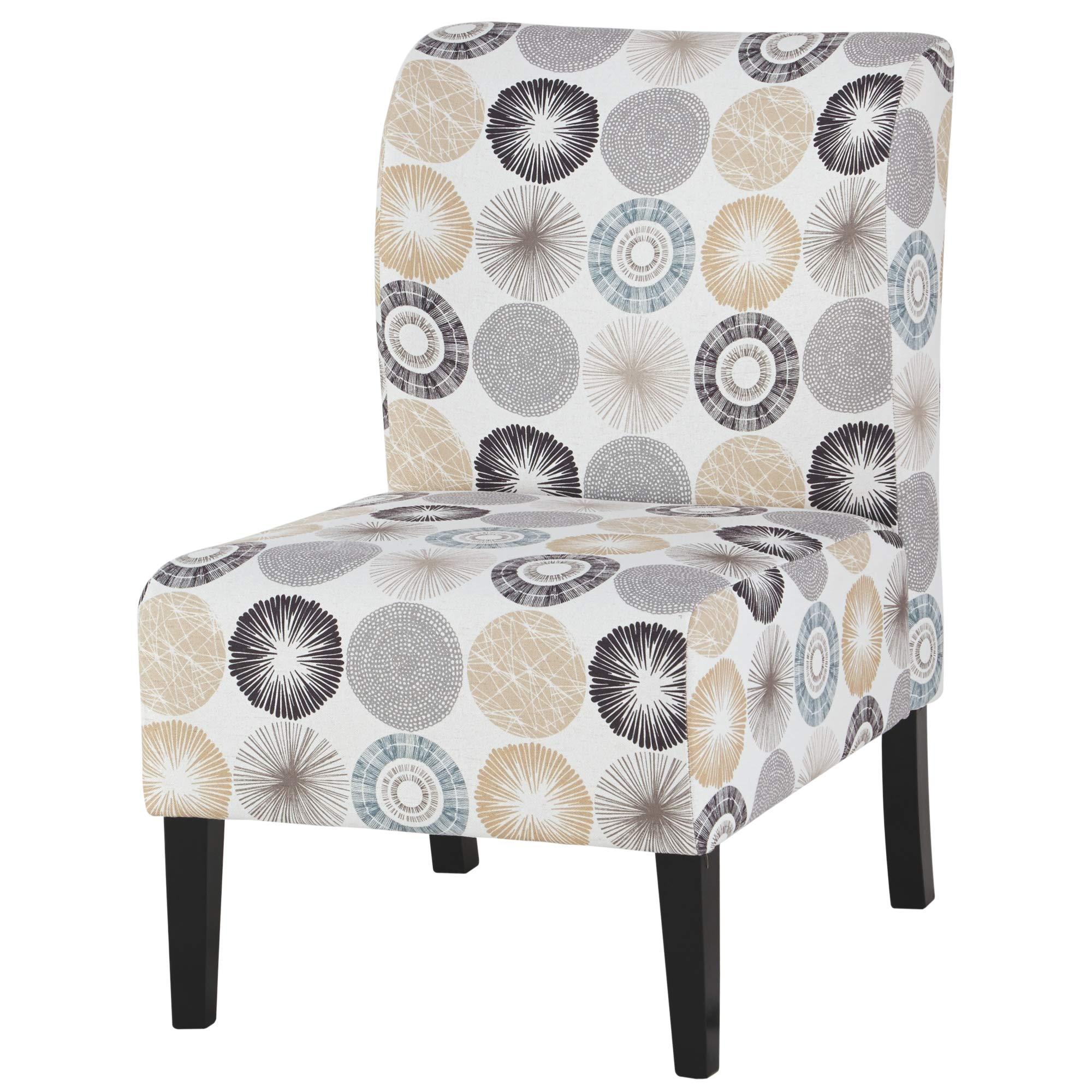 Ashley Furniture Signature Design - Triptis Accent Chair - Contemporary - Gray/Tan Geometric Design - Dark Brown Legs by Signature Design by Ashley