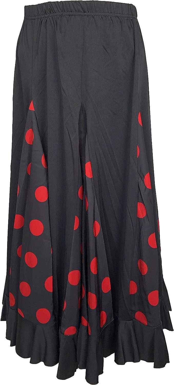 La Senorita Flamenco - Falda de Flamenco para Mujer, Color Negro ...