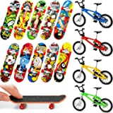 14 Pieces Finger Skateboards Bikes Fingerboards Finger Bicycle Mini Finger Sports Birthday Gifts Party Favors for Boys and Girls