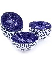 Vancasso Tazón de fuente de cereal de la porcelana cuencos de 6 pedazos fijados, diámetro