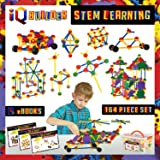 IQ BUILDER STEM Learning Toys | Creative Construction Engineering | Fun Educational Building Blocks Toy Set for Boys and Girls Ages 5 6 7 8 9 10 Year Old | Best Toy Gift for Kids | Activity Game Kit