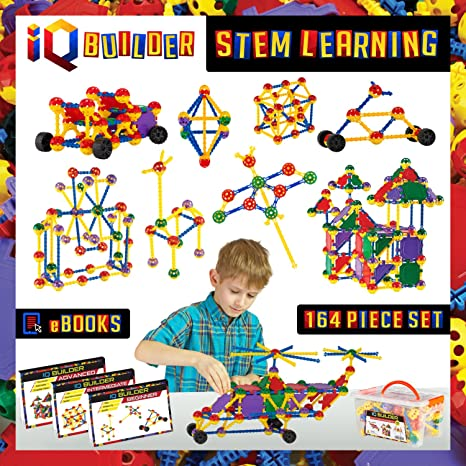 Amazon Com Iq Builder Stem Learning Toys Creative Construction