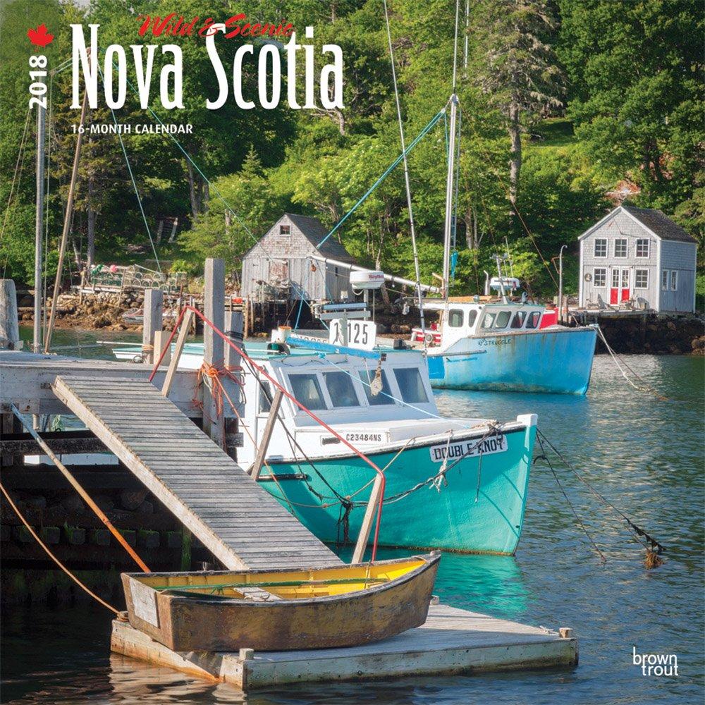 Download Nova Scotia, Wild & Scenic 2018 12 x 12 Inch Monthly Square Wall Calendar, Canada Scenic Nature (Multilingual Edition) pdf