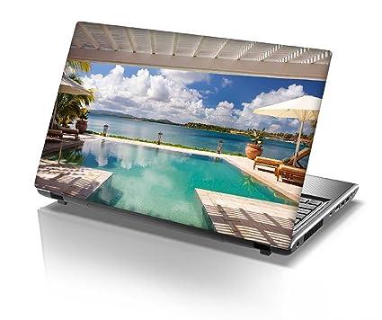 Snoogg Resort Swimming Pool Designer Designer Laptop Skin Sticker ...