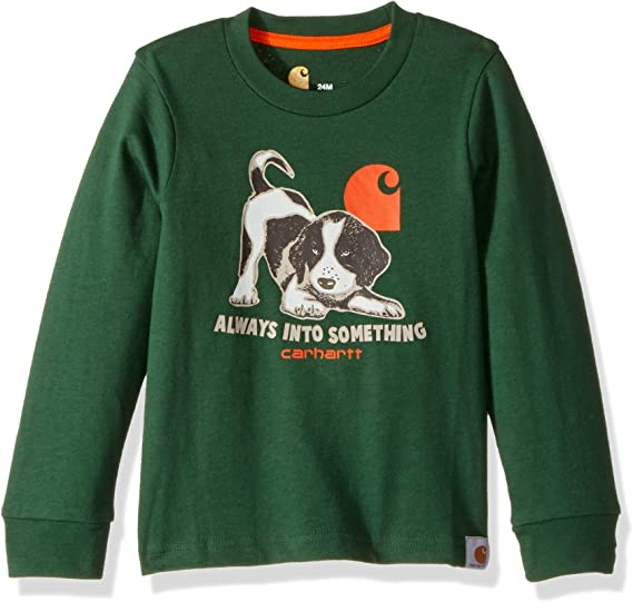 CARHARTT Shirt 1889 HUNT CLUB size 14//16 Large boys long sleeve orange