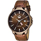 LIMESTONE Day and Date Functioning Wood Coat Series Analogue Brown Dial Men's Watch