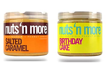 Nuts N More High Protein 2 Pack 16 Oz Each Birthday Cake PB