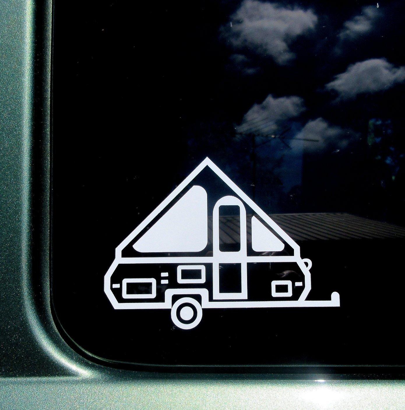A-frame Pop Up Camper Travel Trailer Vinyl Car Window Decal