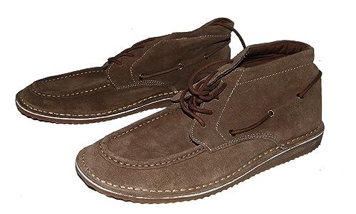 Springfield - Zapatillas de Estar por casa de Piel para Hombre marrón marrón, Color marrón, Talla 45 EU: Amazon.es: Zapatos y complementos