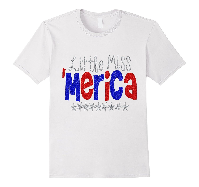 July 4th Shirt USA America Little Miss Kids Girls Daughter-Vaci