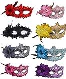 Half Masquerades Venetian Masks Costumes Party Accessory 8PCS