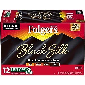 Folgers Black Silk Coffee K-Cup, 12 ct