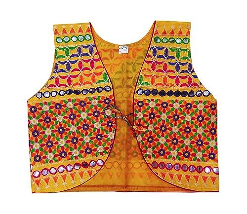 PEEGLI Nueva Chaqueta Tradicional Kutch Bordado Banjara Shrug Rajasthani Koti