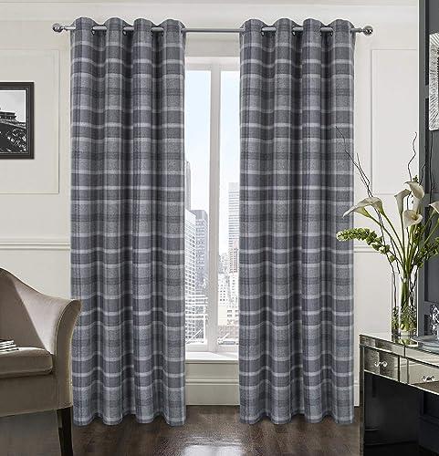 Alexandra Cole Plaid Tartan Check Modern Classic Window Treatment Curtain/Drapes Review