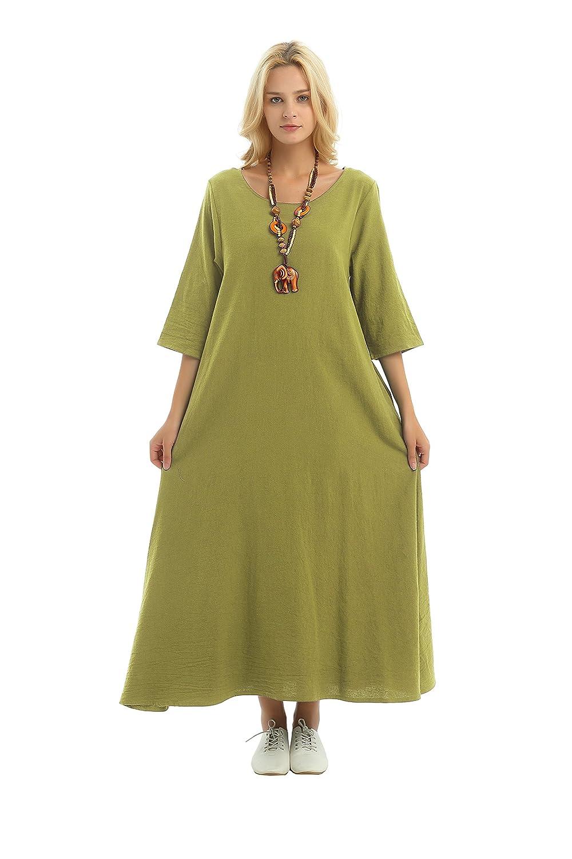 Anysize DRESS レディース カラー: グリーン B077JQK5N1
