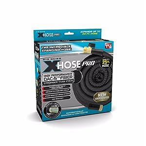 Xhose Pro DAC-5 High Performance Lightweight Expandable Garden Hose with Brass Fittings (25 Feet)