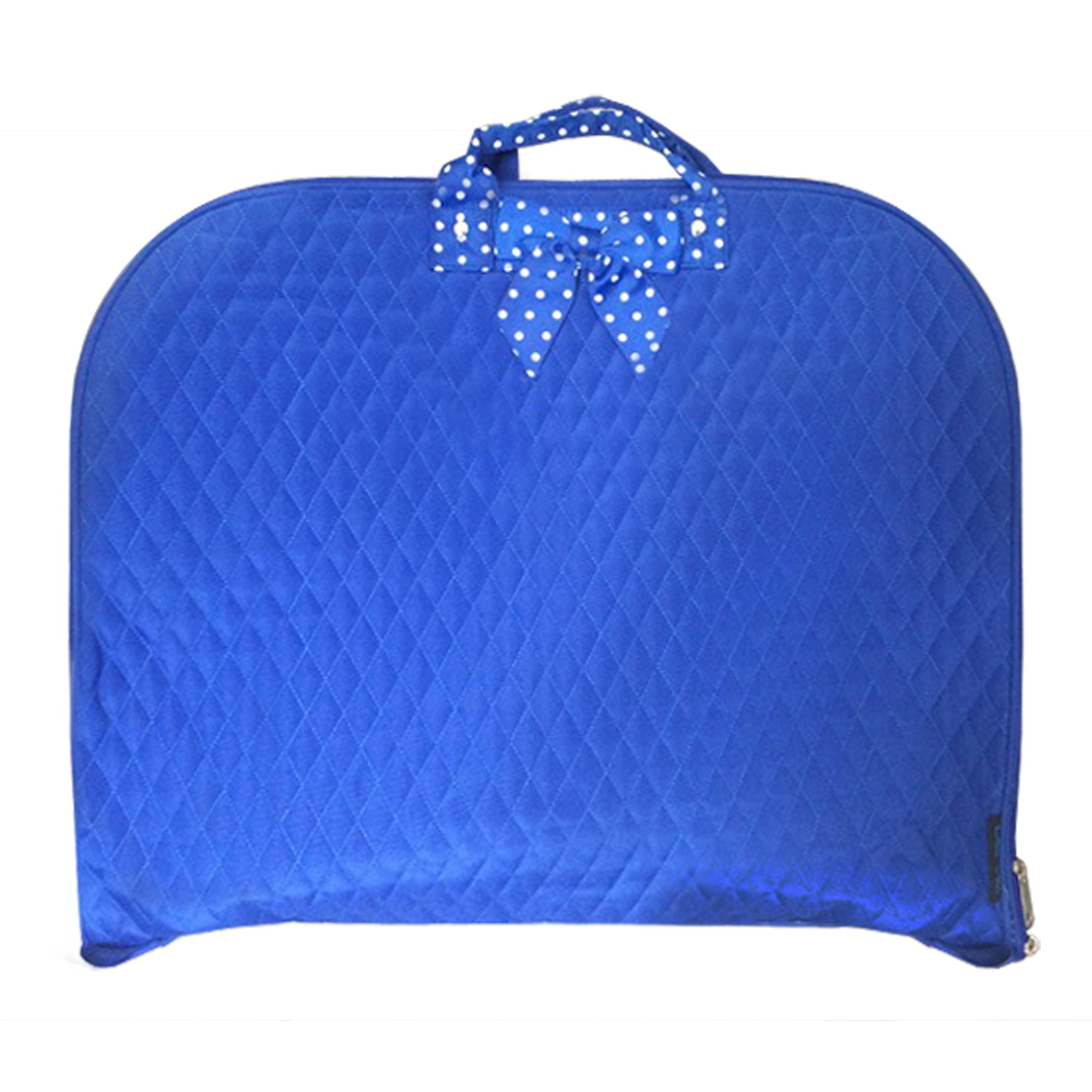 TOP QUALITY Quilted Garment Bag Luggage Travel or Costume Bag (Blue)