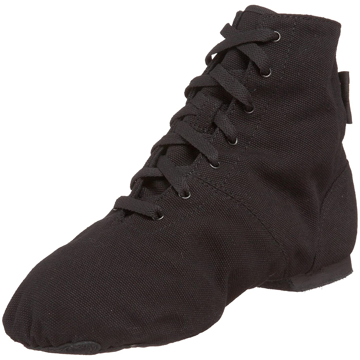 Retro Style Dance Shoes Sansha Soho Lace-Up Jazz Shoe $36.55 AT vintagedancer.com