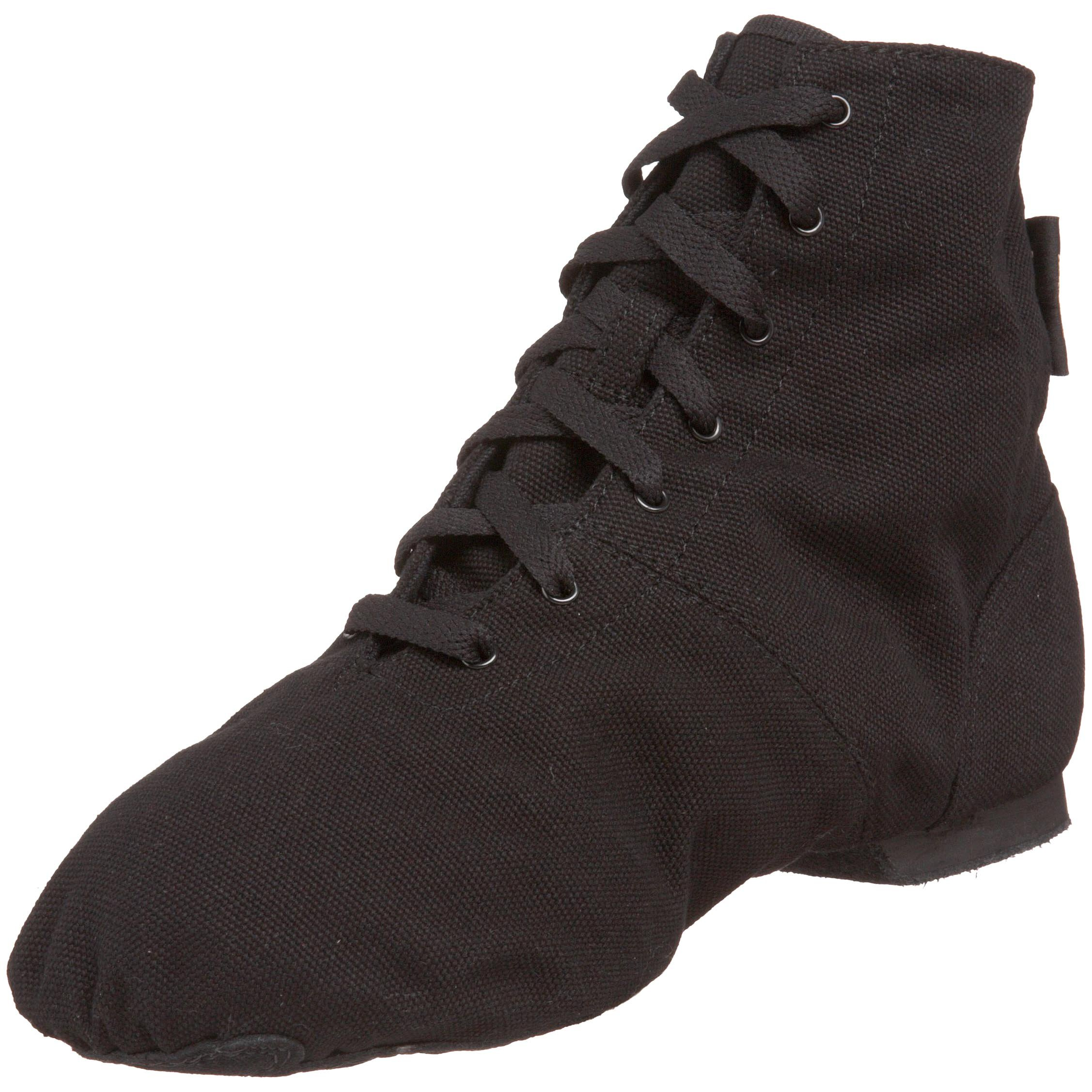 Sansha Soho Lace-Up Jazz Shoe,Black,10 M US Women's/6 M US Men's by Sansha